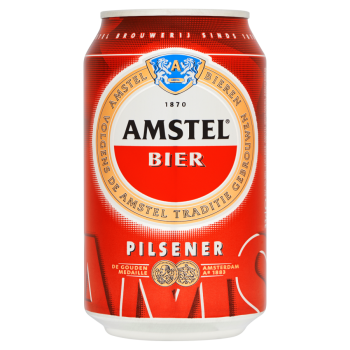 Amstel Beer (24 x 0,33 Liter cans) 5% Alcohol