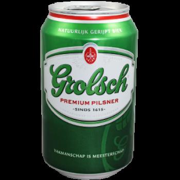 Grolsch Bier (24 x 0,33 Liter blik) 5% Alcohol