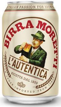 Birra Moretti (24 x 0,33 Liter blik) 4,6% Alcohol