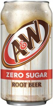A&W USA Zero Sugar Root Beer (12 x 0,355 Liter cans)