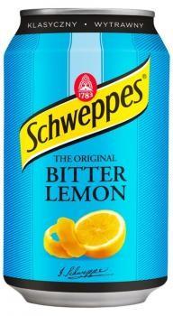 Schweppes Bitter Lemon (24 x 0,33 Liter blik PL)