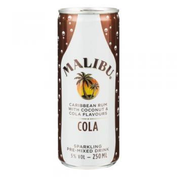 Malibu Rum & Cola (12 x 0,25 Liter Dosen) 5% Alkohol