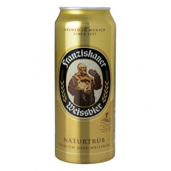 Franziskaner Weissbier (24 x 0,5 Liter Dosen) 5% Alkohol