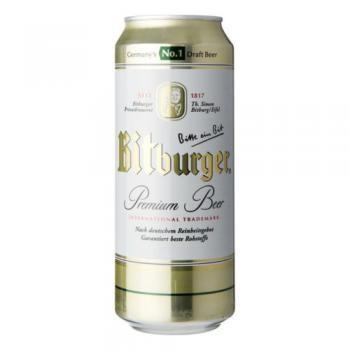 Bitburger Premium Pils Bier (24 x 0,5 Liter blik) 4,8% Alcohol